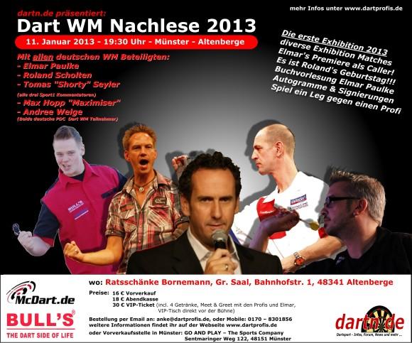 Dart WM Nachlese - 11.01.2013. - Münster Altenberge